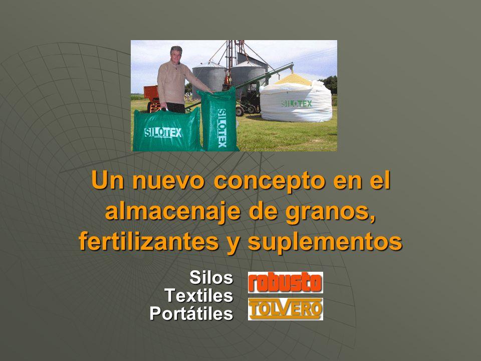 Un nuevo concepto en el almacenaje de granos, fertilizantes y suplementos Silos Textiles Portátiles