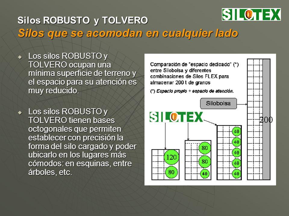 Silos ROBUSTO y TOLVERO Silos que permiten pre-clasificación del grano Los silos ROBUSTO y TOLVERO están modulados con referencia a la unidad más común en la producción de granos: el equipo (chasis + acoplado).