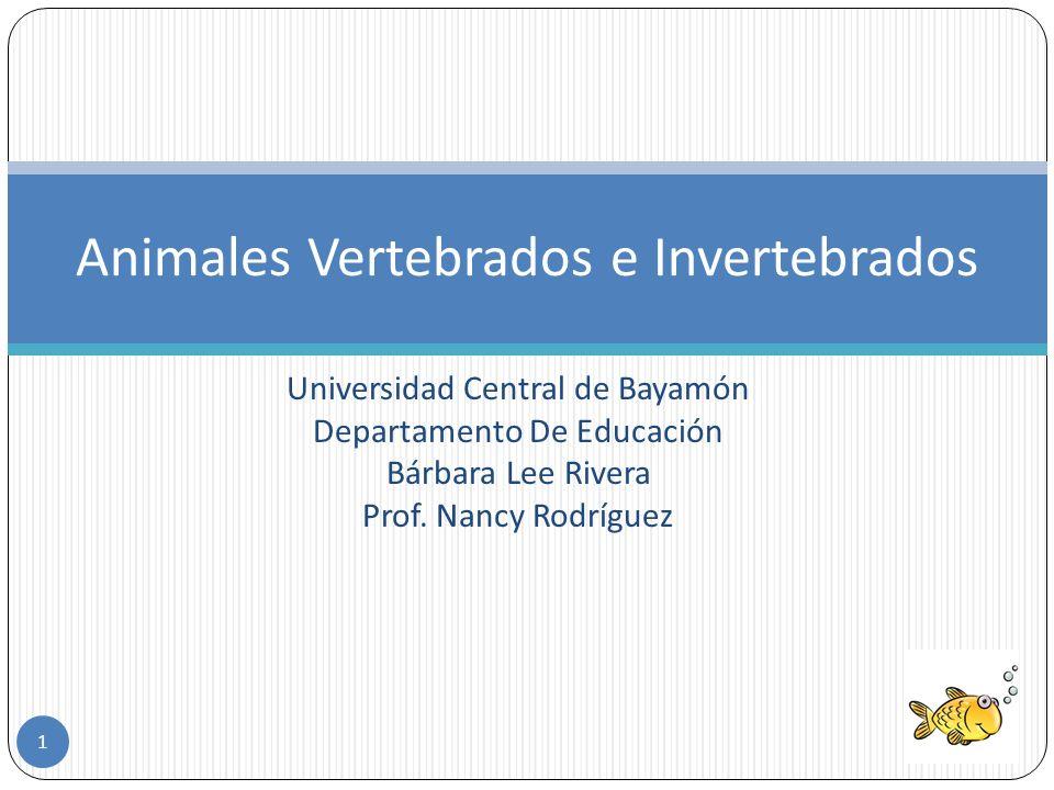 Universidad Central de Bayamón Departamento De Educación Bárbara Lee Rivera Prof.