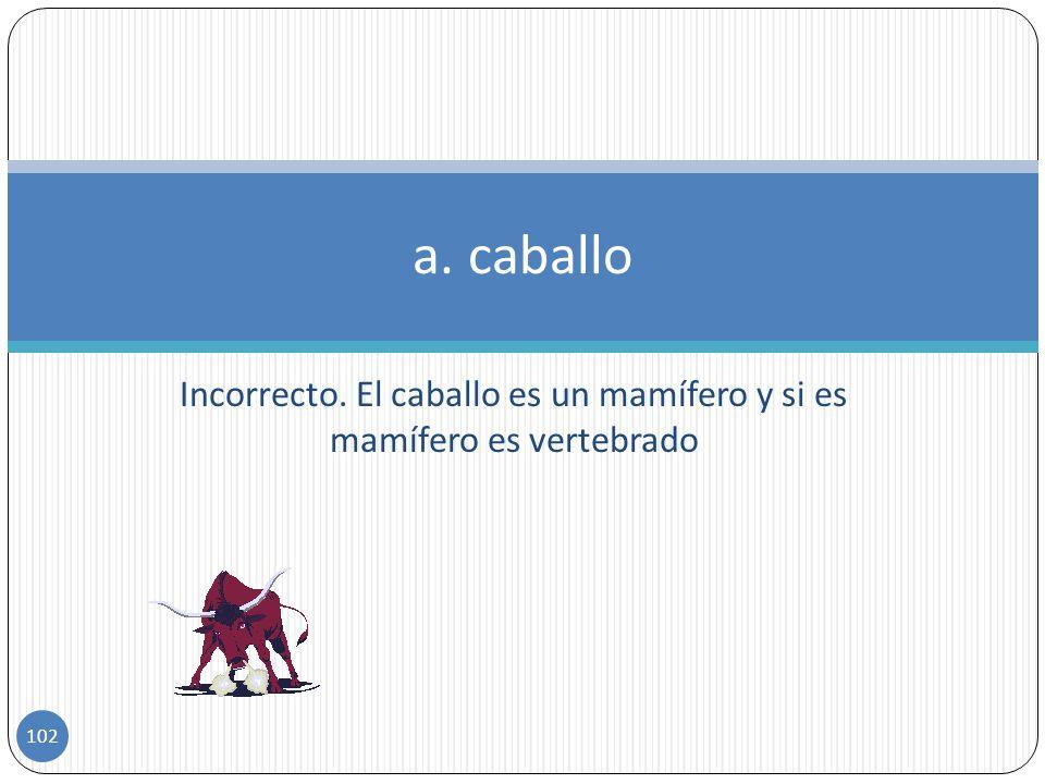Cual de estos animales no es vertebrado a)caballo b)lagarto c)lombriz de tierra Ejercicio 10 101