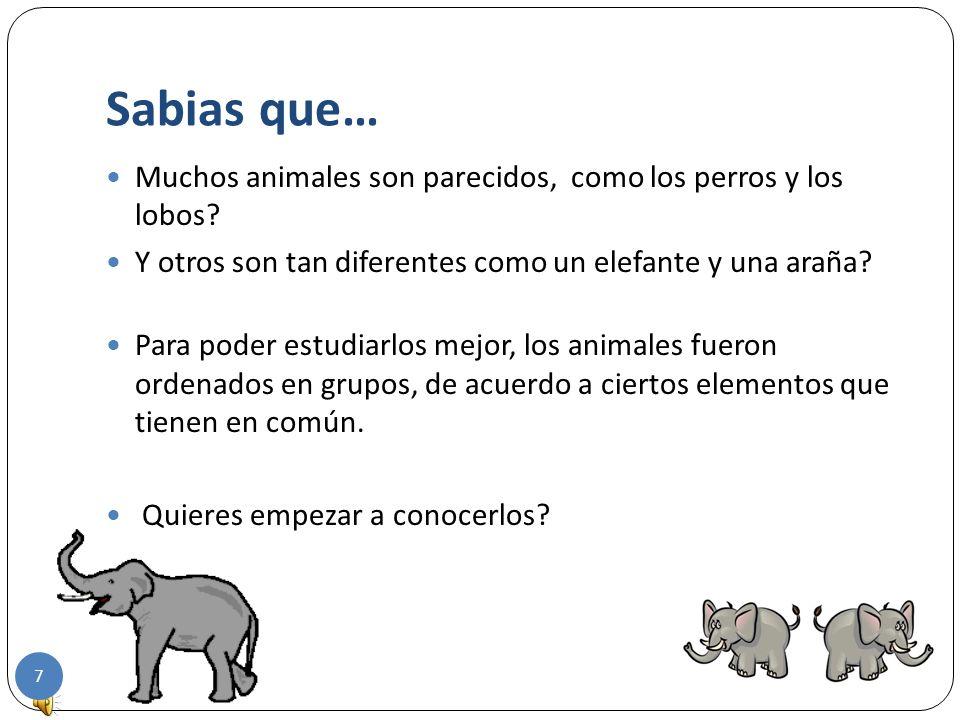 Sabias que… Muchos animales son parecidos, como los perros y los lobos.