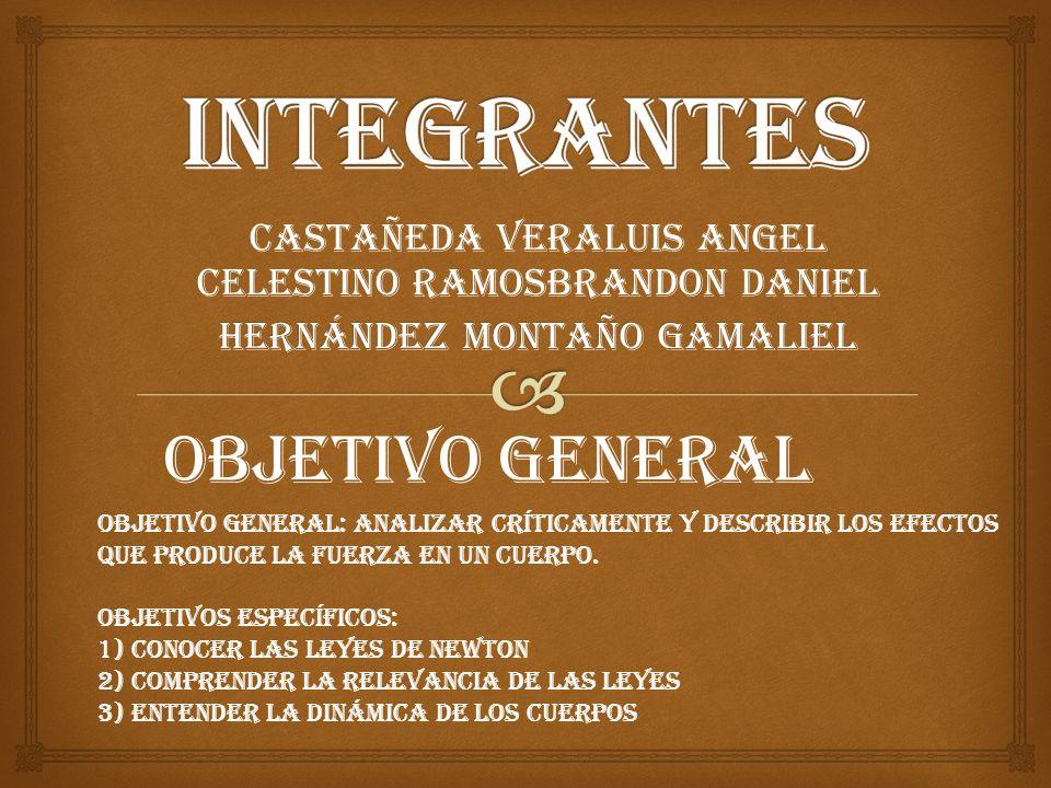 Castañeda VeraLuis Angel Celestino RamosBrandon Daniel Hernández Montaño Gamaliel Objetivo general Objetivo general: Analizar críticamente y describir