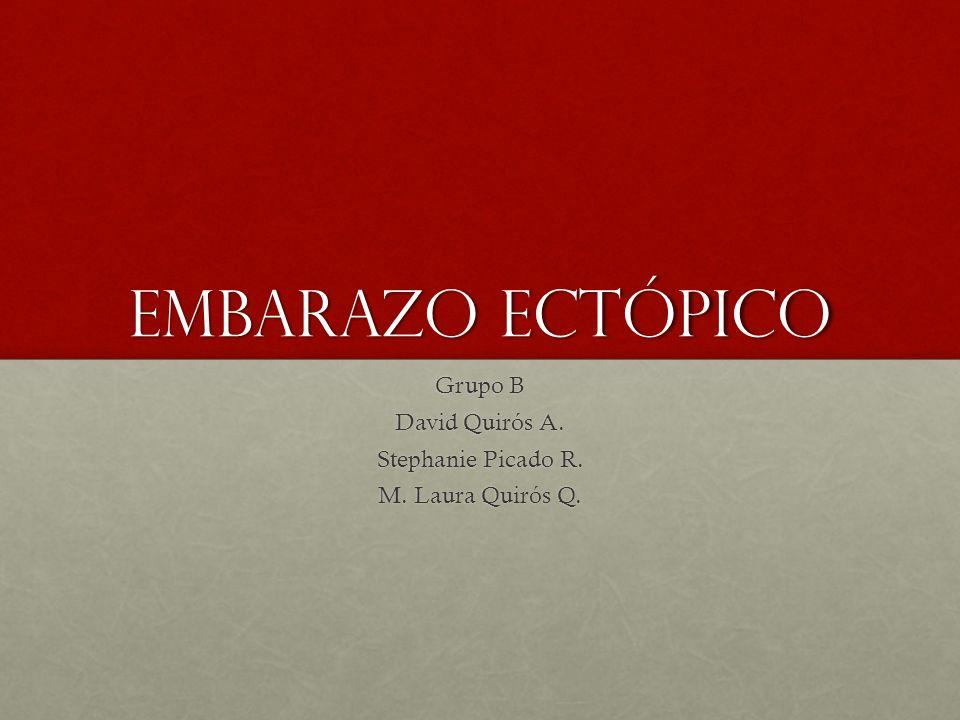 Embarazo Ectópico Grupo B David Quirós A. Stephanie Picado R. M. Laura Quirós Q.