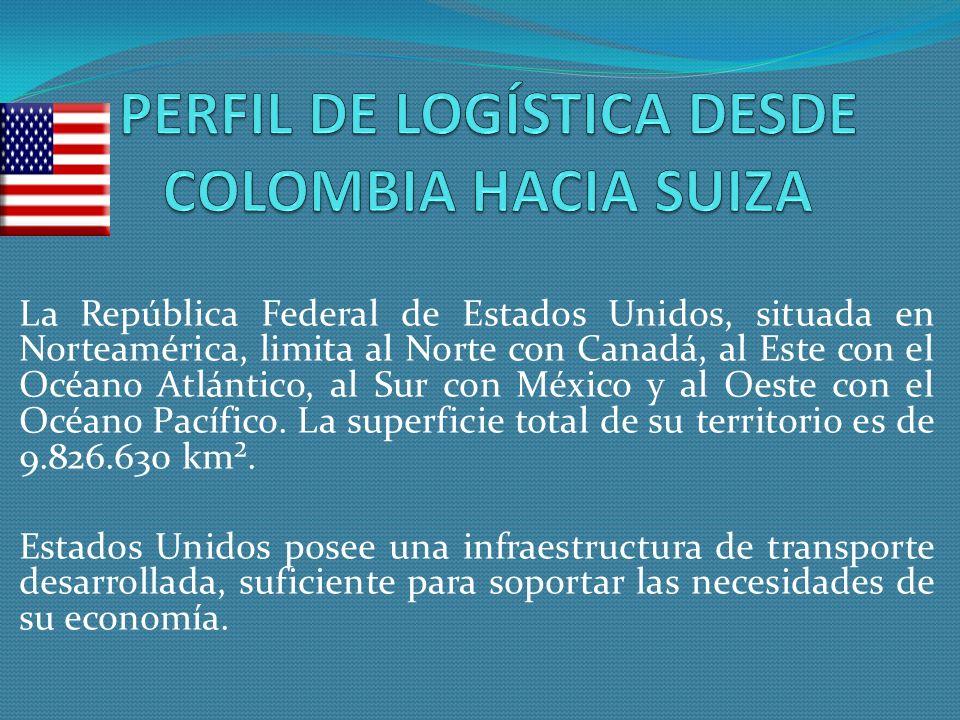 La República Federal de Estados Unidos, situada en Norteamérica, limita al Norte con Canadá, al Este con el Océano Atlántico, al Sur con México y al O