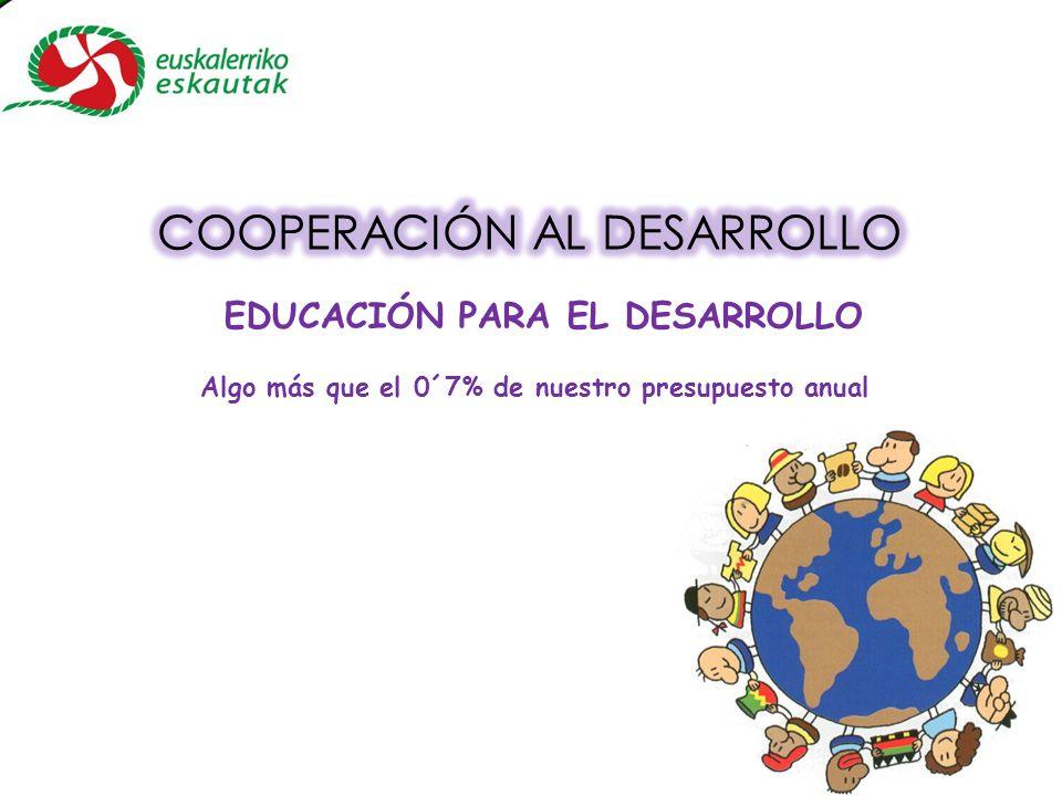 Algo más que el 0´7% de nuestro presupuesto anual EDUCACIÓN PARA EL DESARROLLO