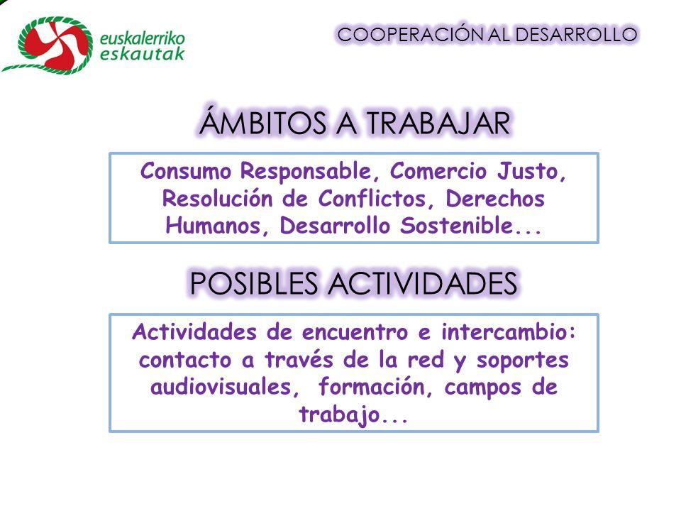 Consumo Responsable, Comercio Justo, Resolución de Conflictos, Derechos Humanos, Desarrollo Sostenible...