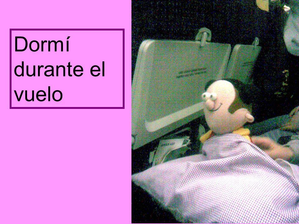 Dormí durante el vuelo