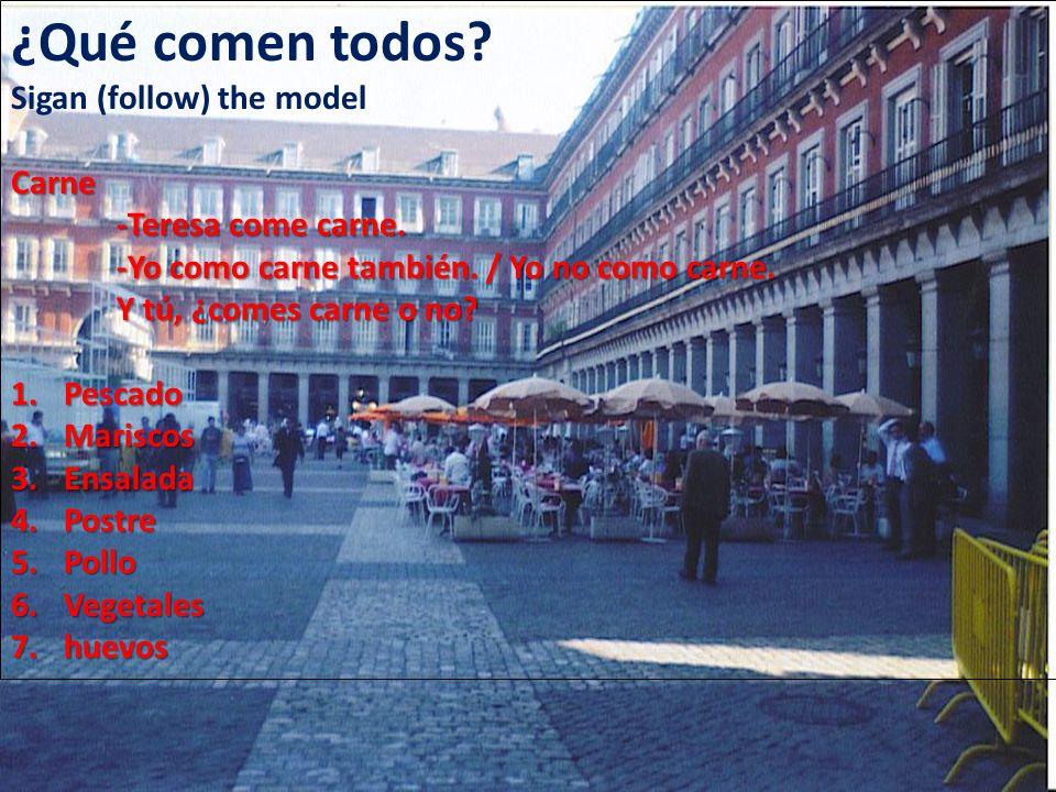 Nosotros contesten personalmente (Uds.with nosotros).
