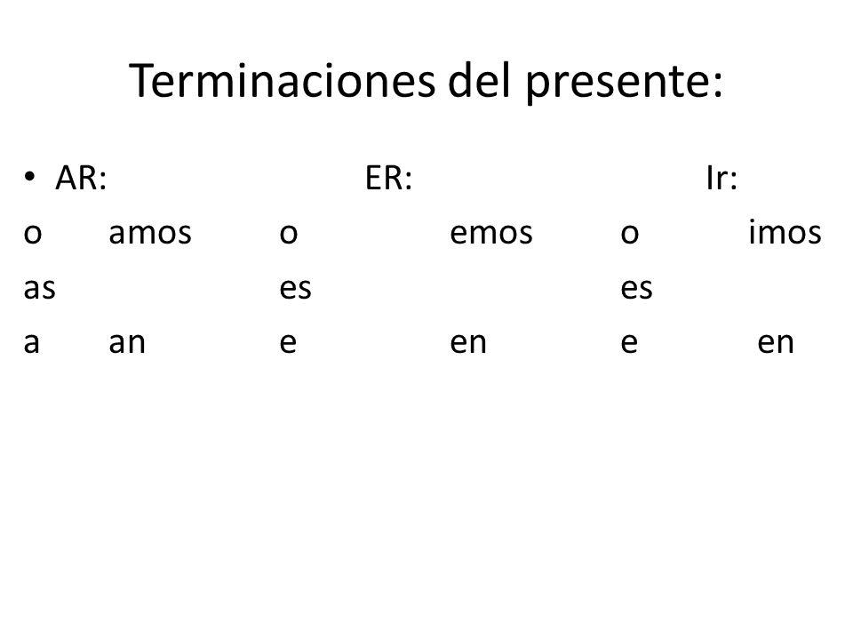El futuro simple You can use: Ir + a + infinitive to express the future: voyvamos vas+a+infinitive vavan