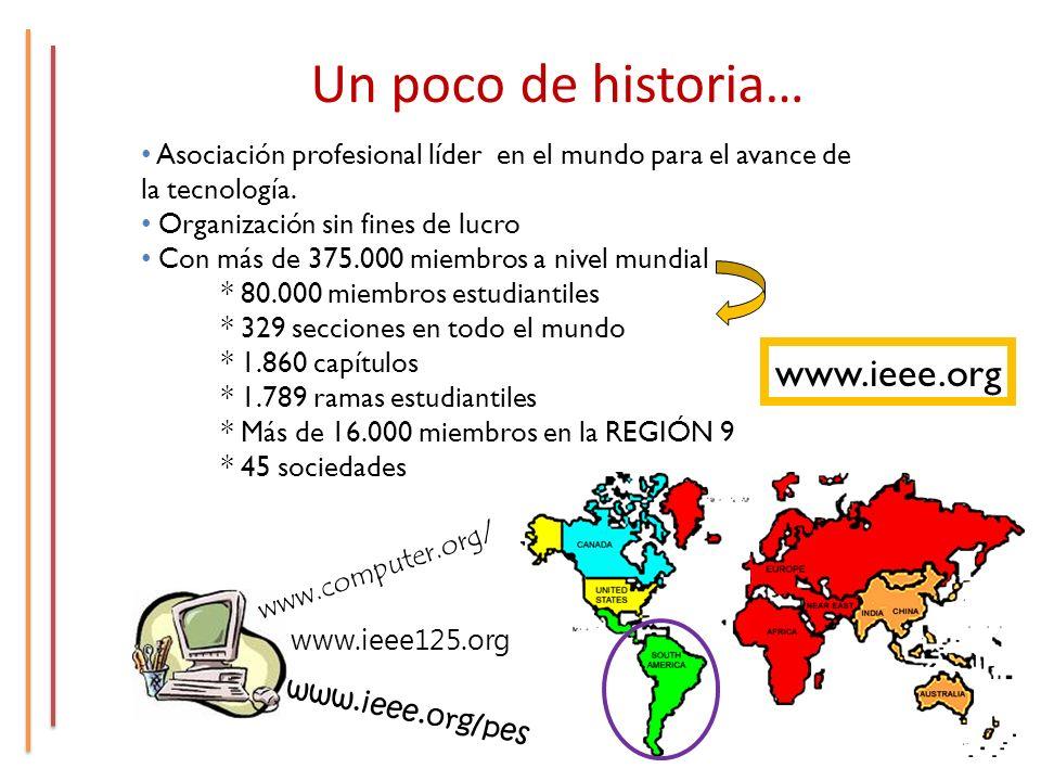Un poco de historia… Asociación profesional líder en el mundo para el avance de la tecnología.