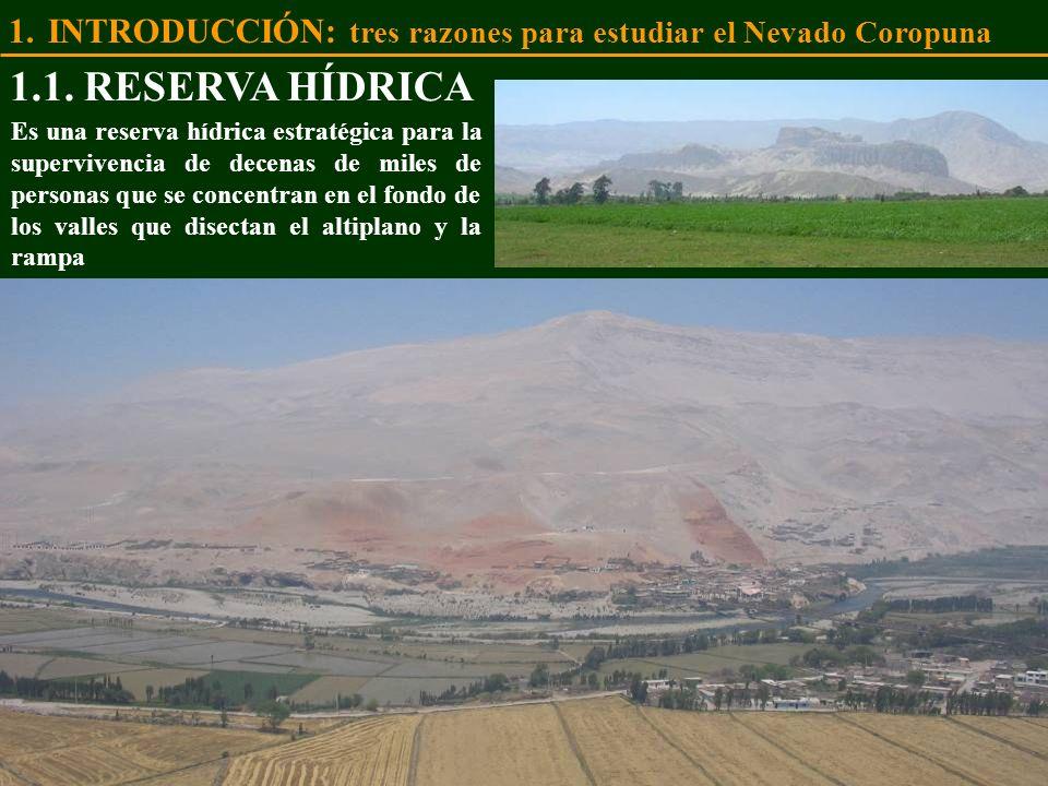 Es una reserva hídrica estratégica para la supervivencia de decenas de miles de personas que se concentran en el fondo de los valles que disectan el a