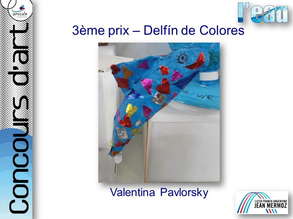 Valentina Pavlorsky 3ème prix – Delfín de Colores