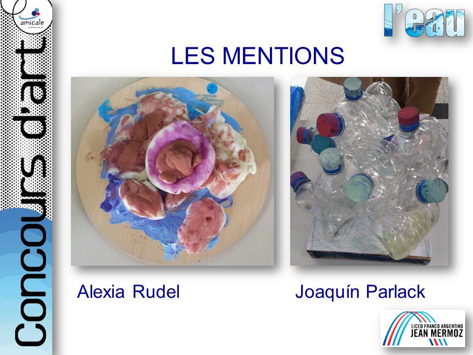 LES MENTIONS Alexia RudelJoaquín Parlack