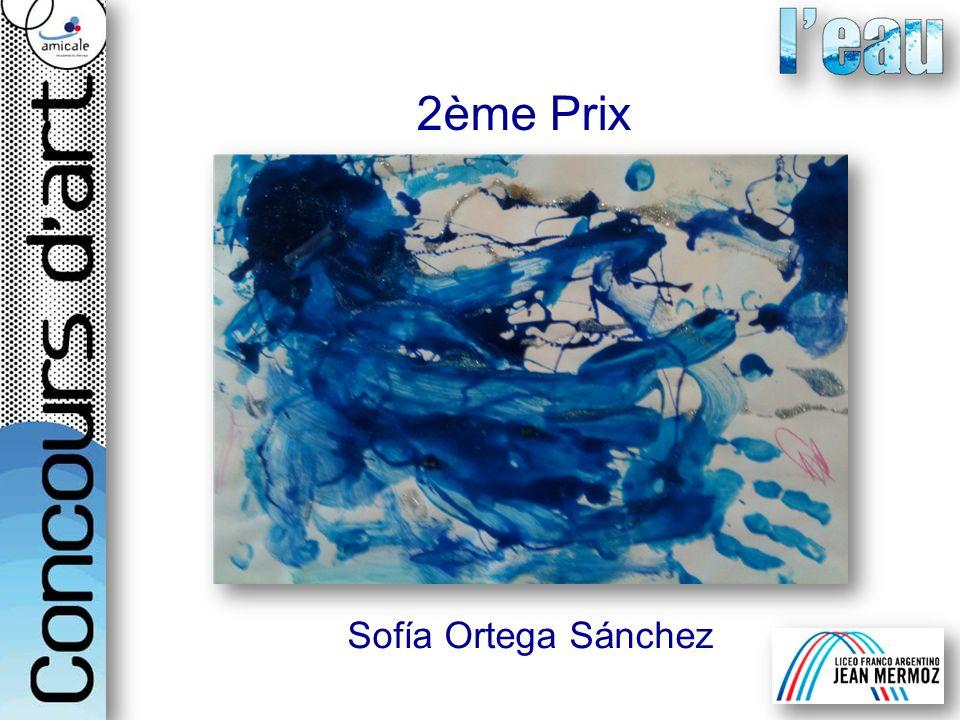 Sofía Ortega Sánchez 2ème Prix