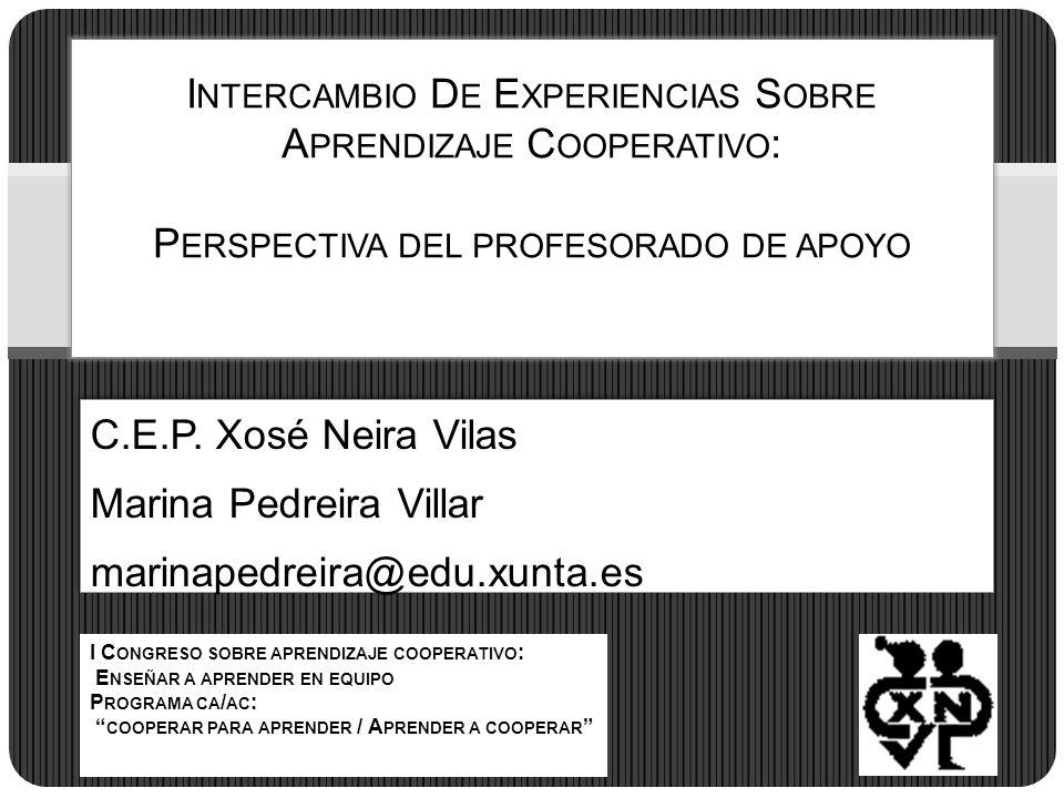 C.E.P. Xosé Neira Vilas Marina Pedreira Villar marinapedreira@edu.xunta.es C.E.P. Xosé Neira Vilas Marina Pedreira Villar marinapedreira@edu.xunta.es