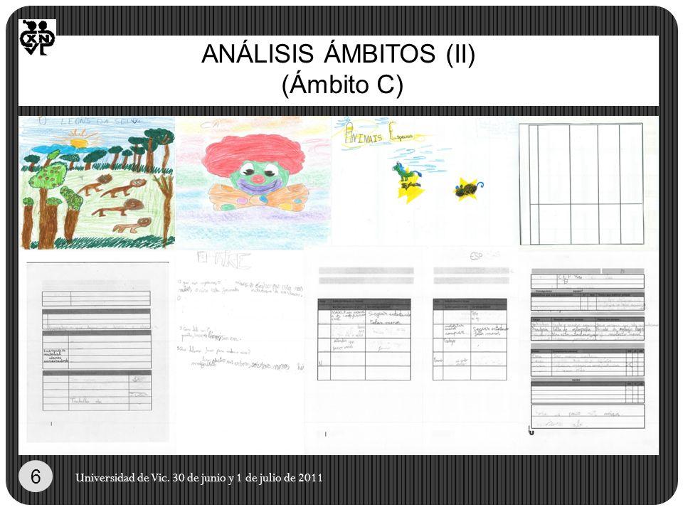 ANÁLISIS ÁMBITOS (II) (Ámbito C) Universidad de Vic. 30 de junio y 1 de julio de 2011 6