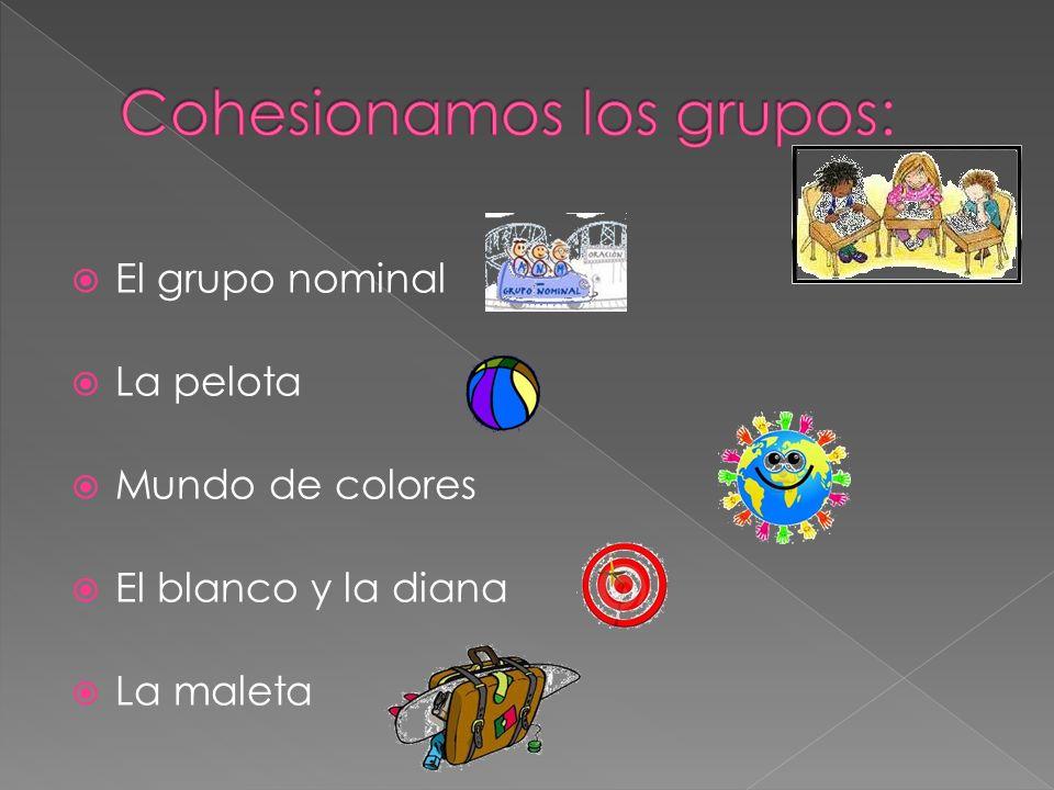 El grupo nominal La pelota Mundo de colores El blanco y la diana La maleta