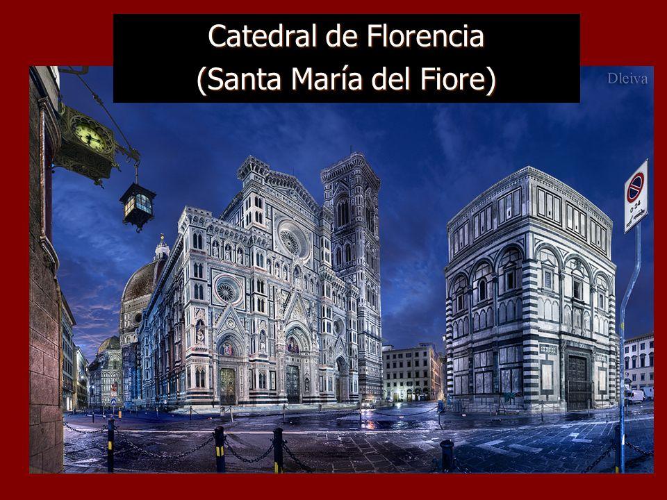 Florencia, cuna del arte y la arquitectura Su centro histórico fue declarado Patrimonio de la Humanidad en 1982, y en él destacan obras medievales y renacentistas como la cúpula de Santa María del Fiore, el Ponte Vecchio, la Basílica de Santa Cruz, el Palazzo Vecchio y museos como los Uffizi, el Bargello o la Galería de la Academia, que acoge al David de Miguel Ángel.