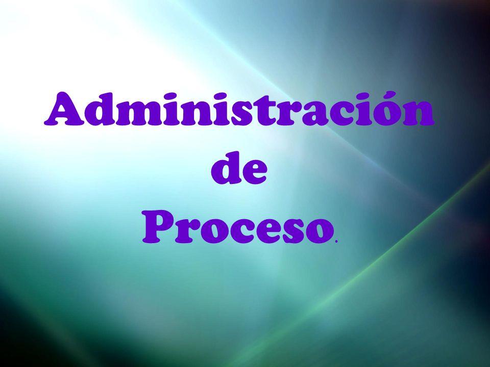 Administración de Proceso.
