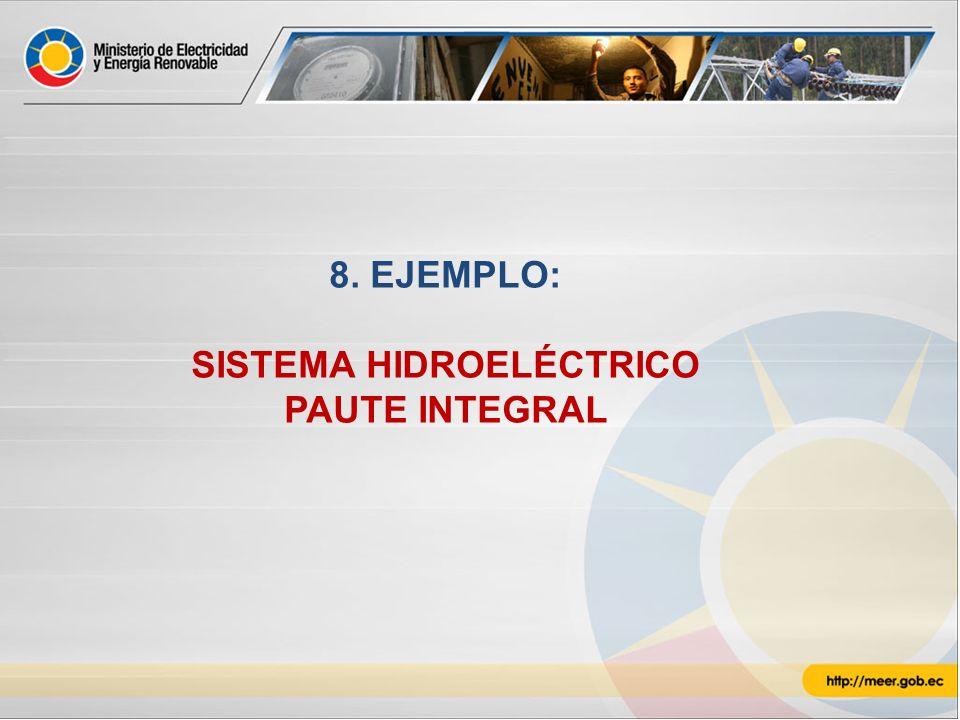 8. EJEMPLO: SISTEMA HIDROELÉCTRICO PAUTE INTEGRAL