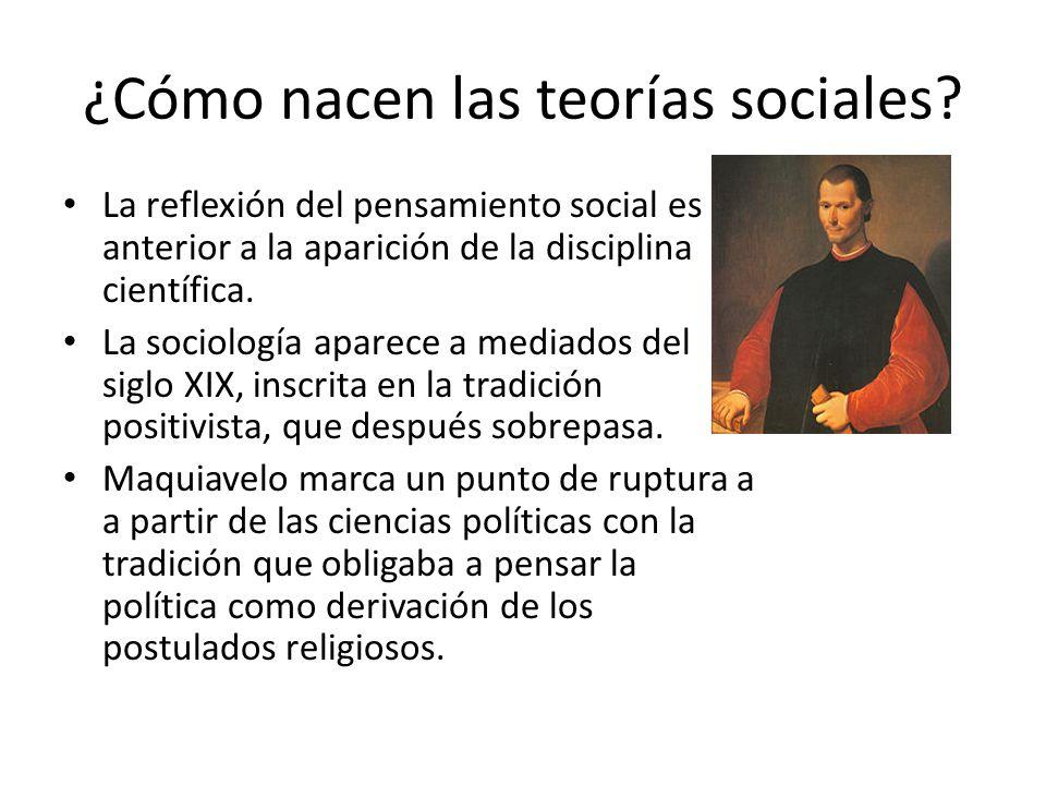 ¿Cómo nacen las teorías sociales? La reflexión del pensamiento social es anterior a la aparición de la disciplina científica. La sociología aparece a