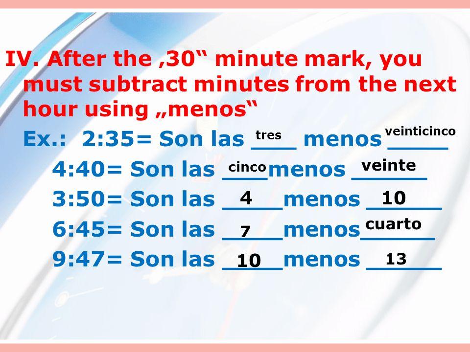 Practicamos. Escriban en espanol.