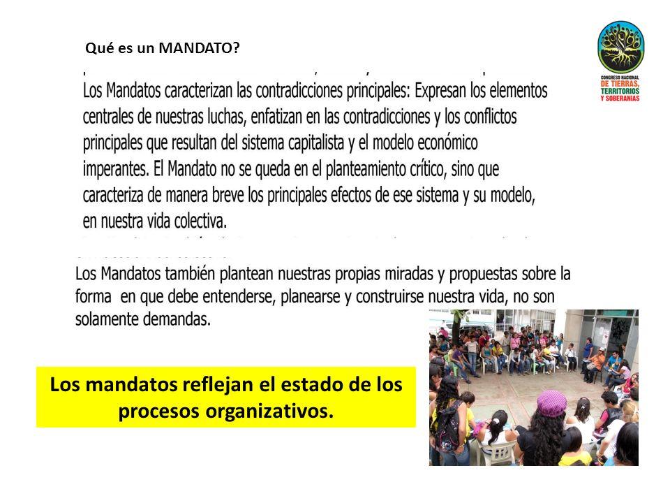 Los mandatos reflejan el estado de los procesos organizativos. Qué es un MANDATO?