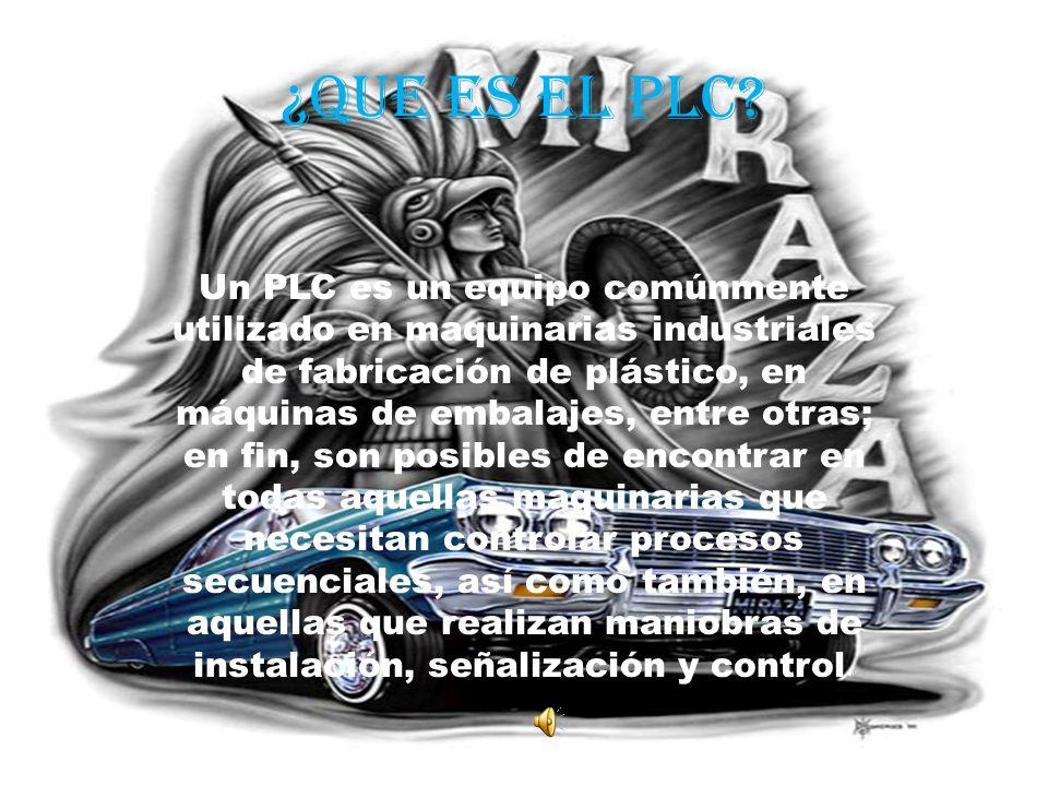 ¿Que es el plc? Un PLC es un equipo comúnmente utilizado en maquinarias industriales de fabricación de plástico, en máquinas de embalajes, entre otras