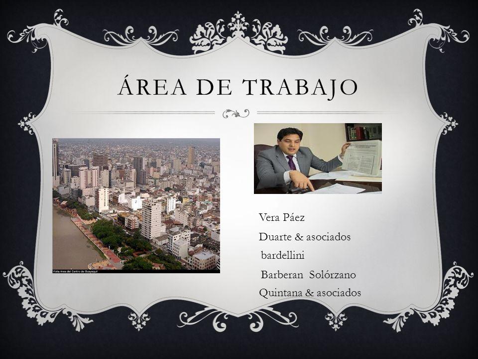 ÁREA DE TRABAJO Vera Páez Duarte & asociados bardellini Barberan Solórzano Quintana & asociados