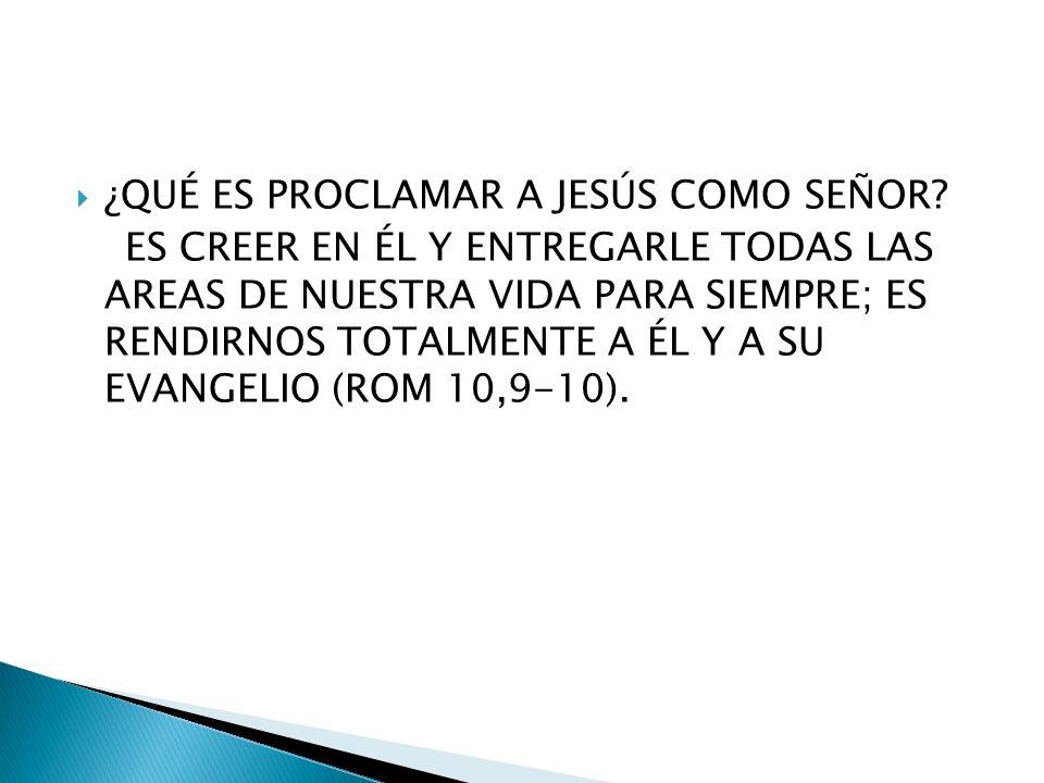 ¿QUÉ ES PROCLAMAR A JESÚS COMO SEÑOR.