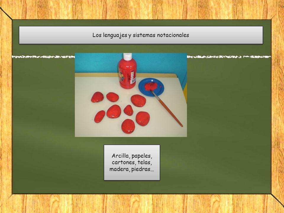 Los lenguajes y sistemas notacionales Arcilla, papeles, cartones, telas, madera, piedras…
