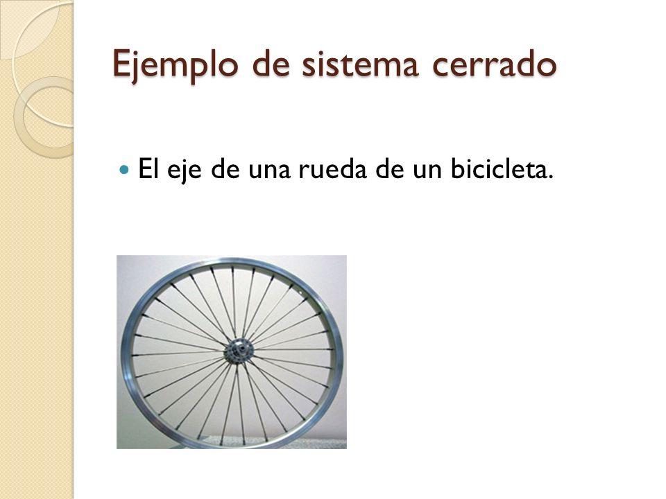 Ejemplo de sistema cerrado El eje de una rueda de un bicicleta.