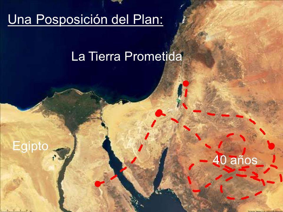 Egipto La Tierra Prometida 40 años Una Posposición del Plan:
