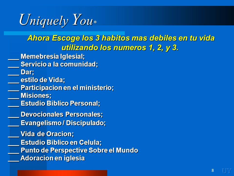 U niquely Y ou ® 29 Examinar tu Salud Mental © Copyright, 2002 Mels Carbonell, Ph.D.