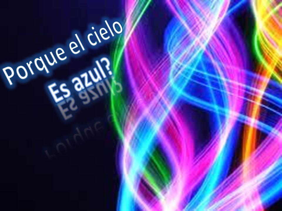 Luz solaratmósfera Al chocar se dispersa Es violeta Rojo, violeta, azul Genera colores Ojo humano Color azul