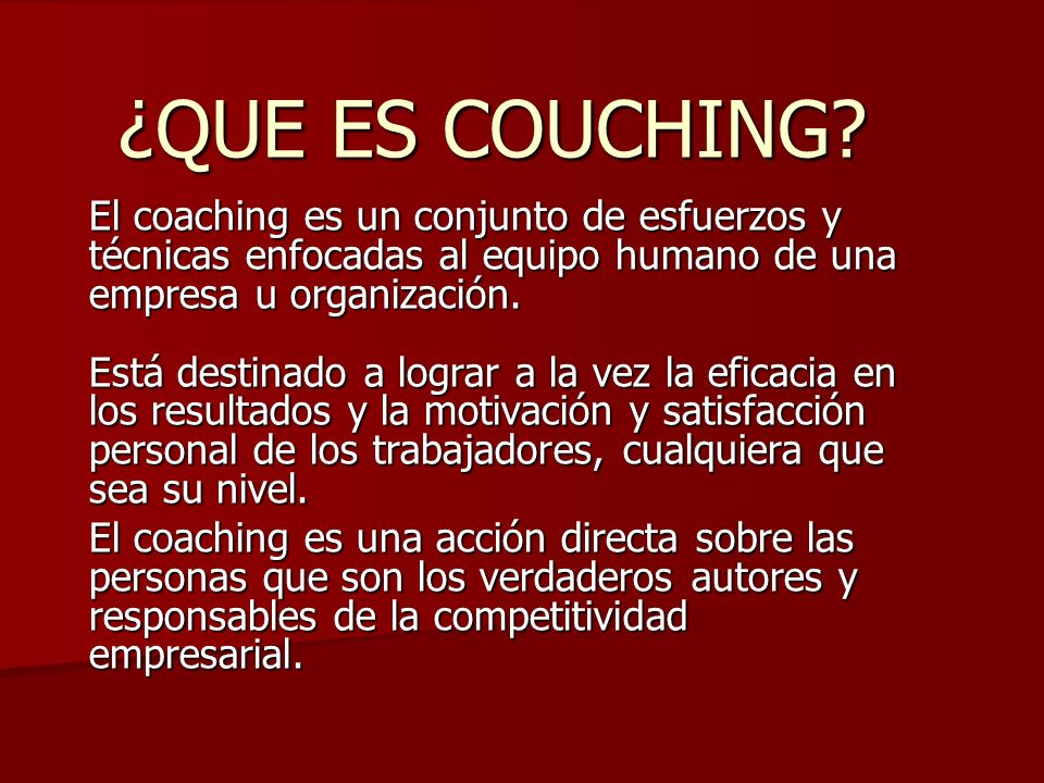 ¿QUE ES COUCHING.