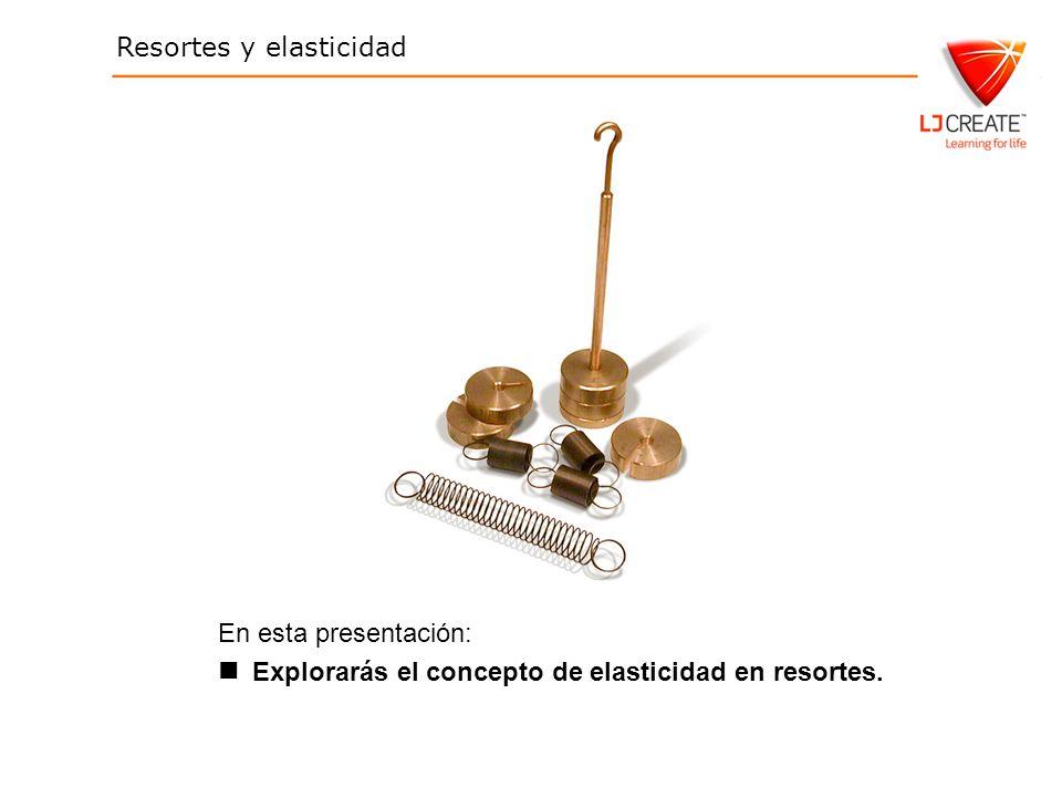 Resortes y elasticidad En esta presentación: Explorarás el concepto de elasticidad en resortes.