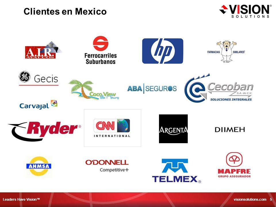 Leaders Have Vision visionsolutions.com 16 CUAL ES EL PROBLEMA CON LOS METODOS CONVENCIONALES.