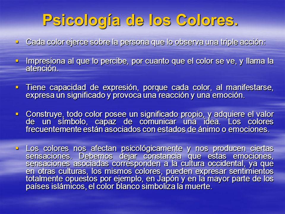 Psicología de los Colores.
