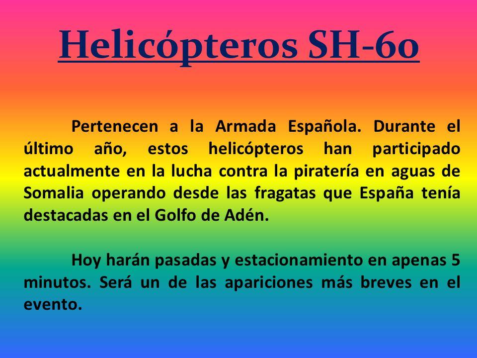 Helicópteros SH-60 Pertenecen a la Armada Española.
