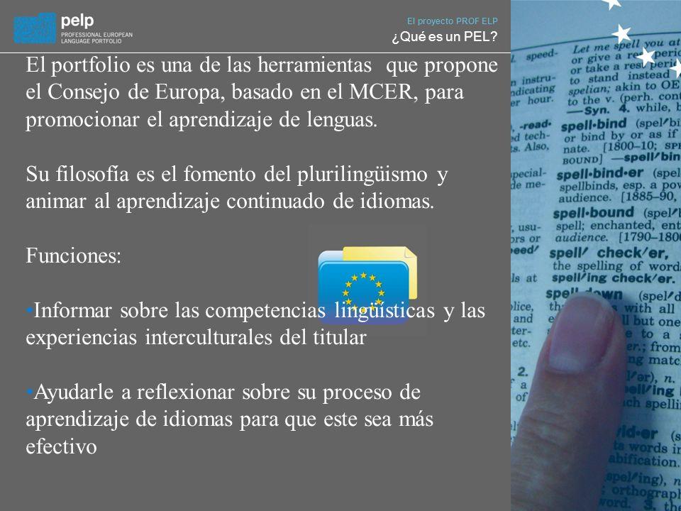El proyecto PROF ELP ¿Qué es un PEL.