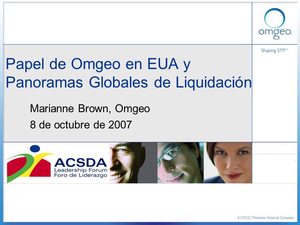 Agenda Quién es Omgeo.