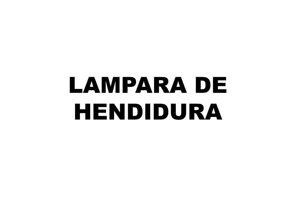 LAMPARA DE HENDIDURA
