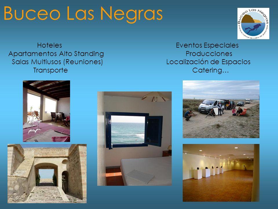 Hoteles Eventos Especiales Apartamentos Alto Standing Producciones Salas Multiusos (Reuniones) Localización de Espacios Transporte Catering… Buceo Las Negras