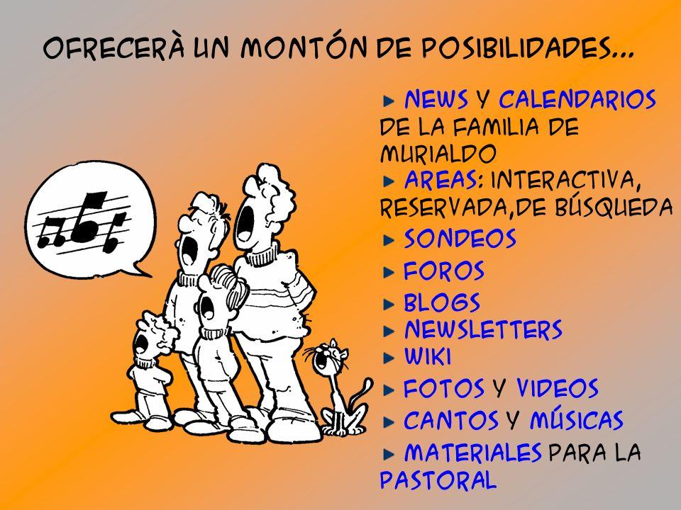 EL nuEVO portal www.murialdo.org YA ESTArà on-line 1°de enero 2008