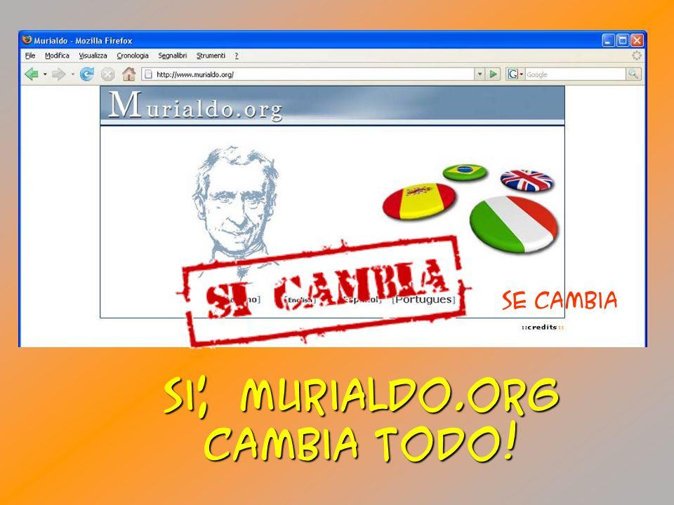 Si, Murialdo.org cambia toDO! Se cambia