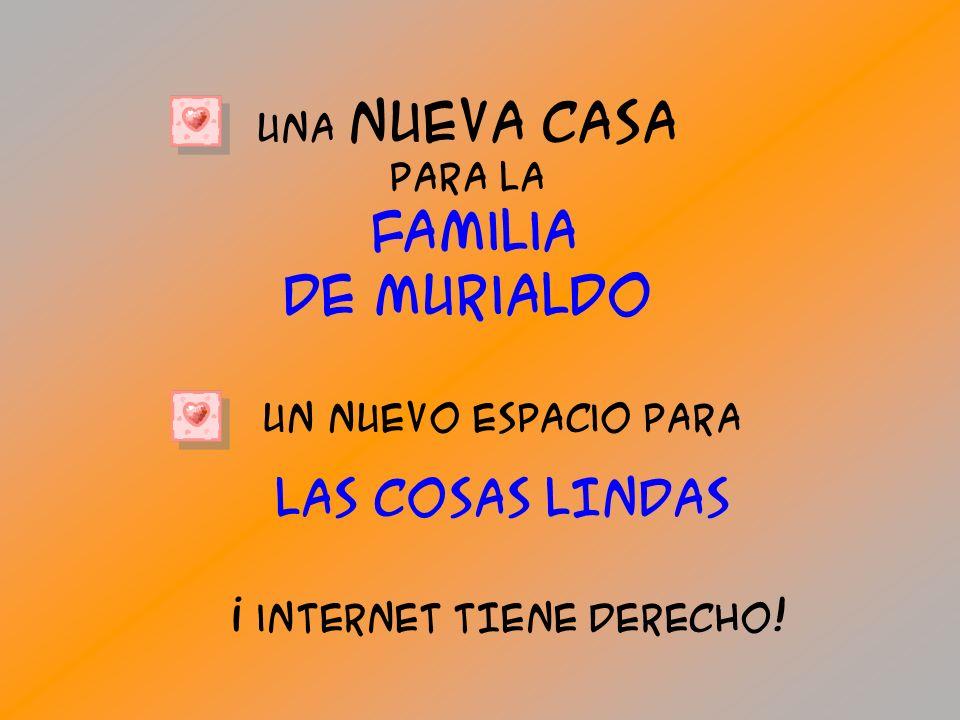 Un nuEvo EspaCio pArA lAS cosAS LINDAS Una nuEva casa pArA la Familia de Murialdo ¡ internet TIEne dErECHo!