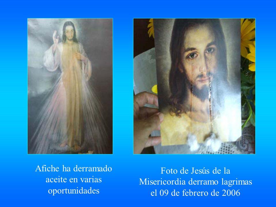 Este Cristo aparecio en una pared de la casa donde ocurre la manifestacion el 20 de enero 2.001 Virgen Rosa Mistica derramo lagrimas de sangre el 03 de febrero de 2003