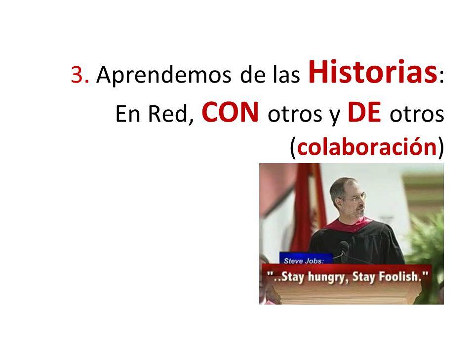 3. Aprendemos de las Historias : En Red, CON otros y DE otros (colaboración)