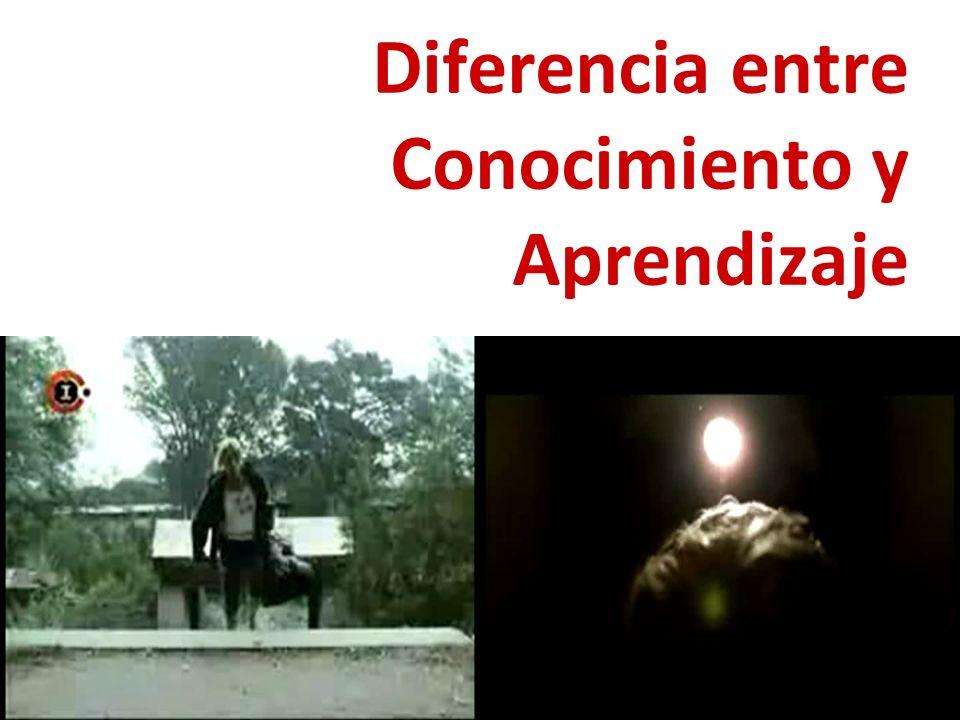 Diferencia entre Conocimiento y Aprendizaje